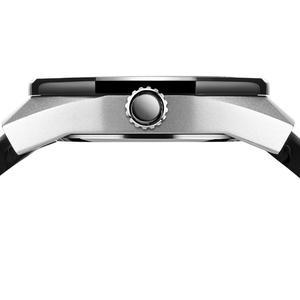 Image 2 - BAOGELA2019 Skeleton Quartz Watches Men Sports Army Military Wristwatch Luminous Waterproof Silicone Band Man1901 BLACK White