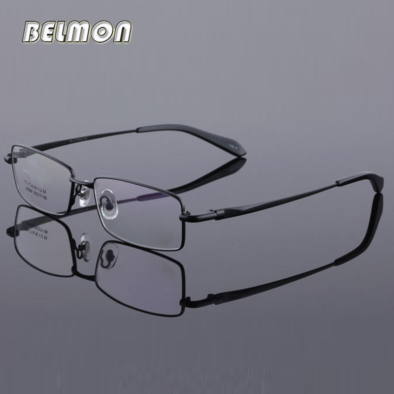 Pure Titanium Spectacle Frame Men Eyeglasses Computer Optical Clear Lens Glasses Full Frame For Male Prescription Eyewear RS430