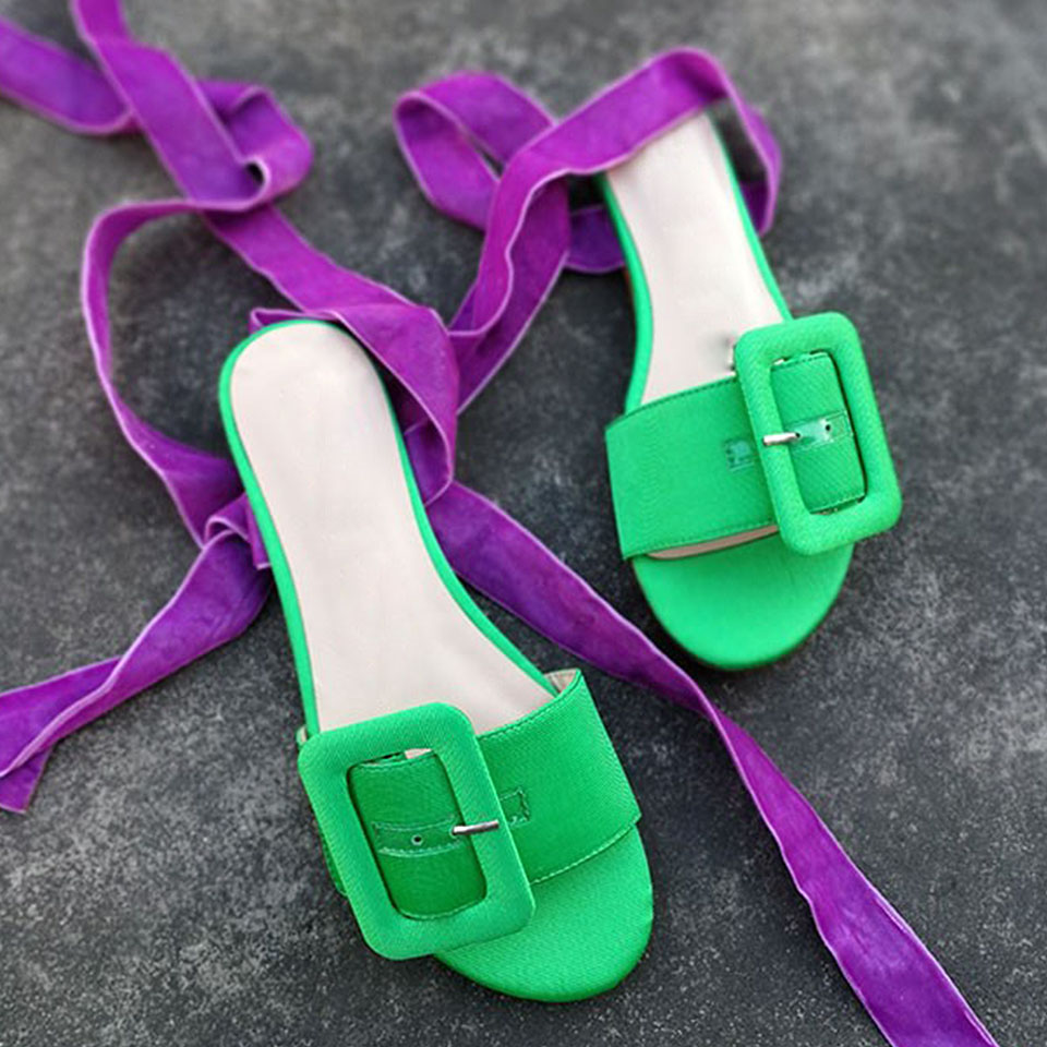 Llegada Abierta Tobillo Heels Moda Nueva Green Punta Azul purple Transparente Rojo Clásica Verano Correa Raya Negro Mujer Sandalias Hebilla Strange RxqXdwqzg