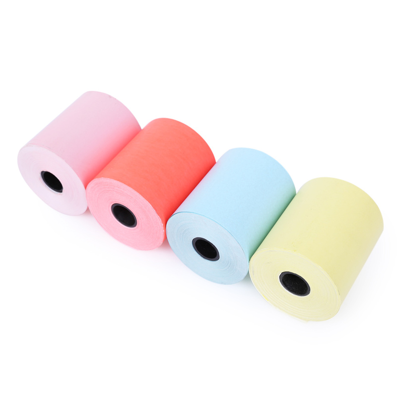 PAPERANG  Color thermal printing paper 57 * 30 thermal paper Bill receipt paper 4 rolls Free postage thermal cash register paper printing paper white 80mm