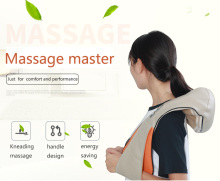 U Shape Shawl Massager Electrical Shiatsu Back Neck Shoulder body infrared 3D kneading massager EU plug flat plug Car home Dual