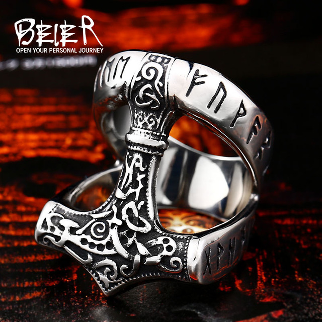 Beier Stainless Steel Norse Viking Nordic Myth thor hammer High Quality fashion