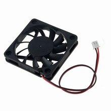 Gdstime 2 шт. 60x60x10 мм 2Pin 5 в DC вентилятор охлаждения 60 мм x 10 мм 6 см ПК бесшумный компьютерный корпус CPU VGA кулер 6010