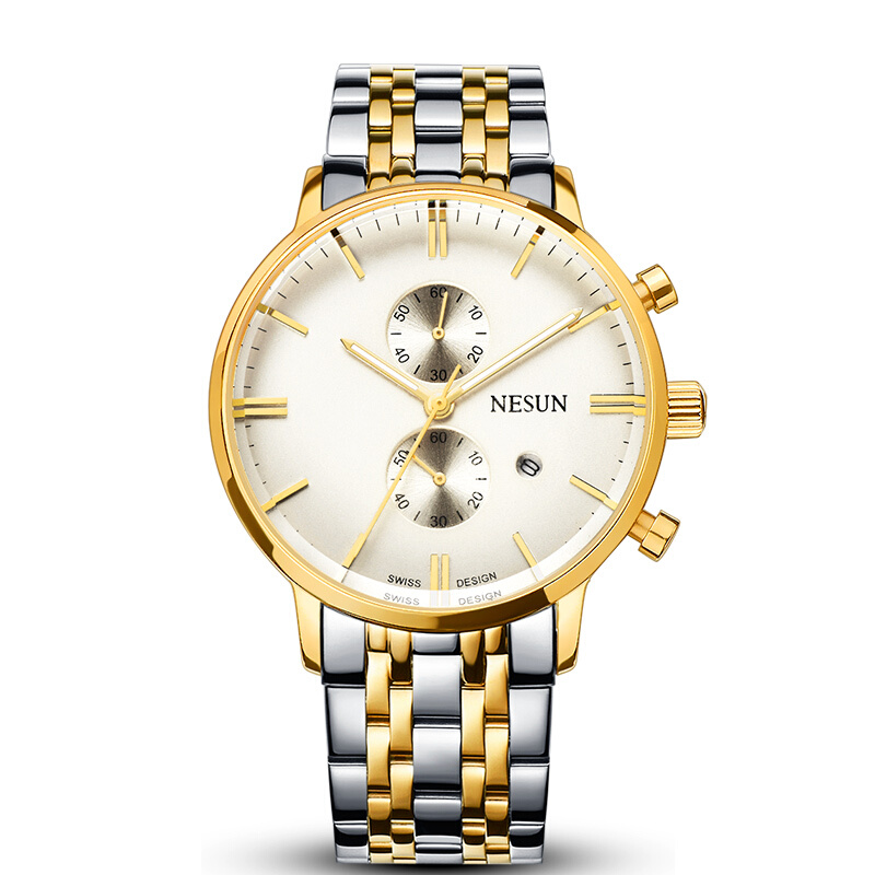 NESUN 8601 Multifunction Mens Business Casual Quartz Watches With Stainless Steel WatchbandNESUN 8601 Multifunction Mens Business Casual Quartz Watches With Stainless Steel Watchband