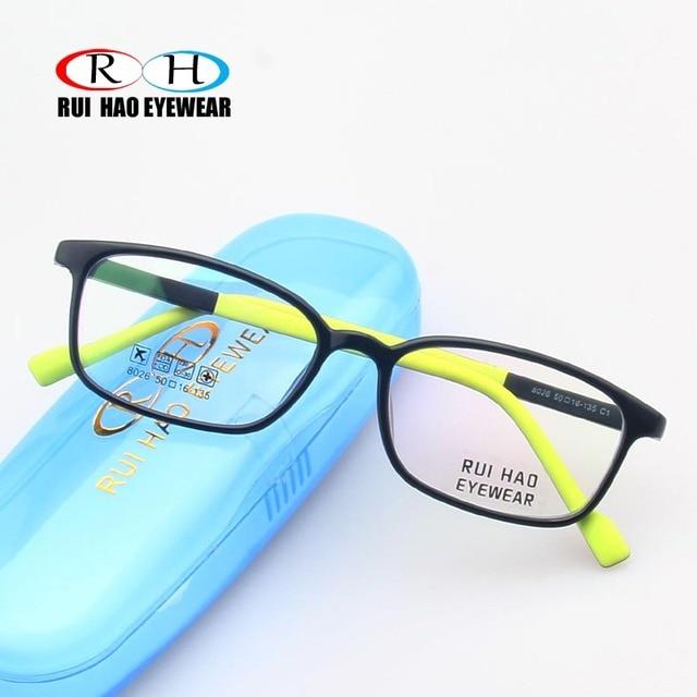 7ca4dfa8a Óculos de Armação CRIANÇAS Estudante Callant Criança Óculos Prescriptio  TR90 Optical Óculos Óculos Frames Quadro Super Leve 8026