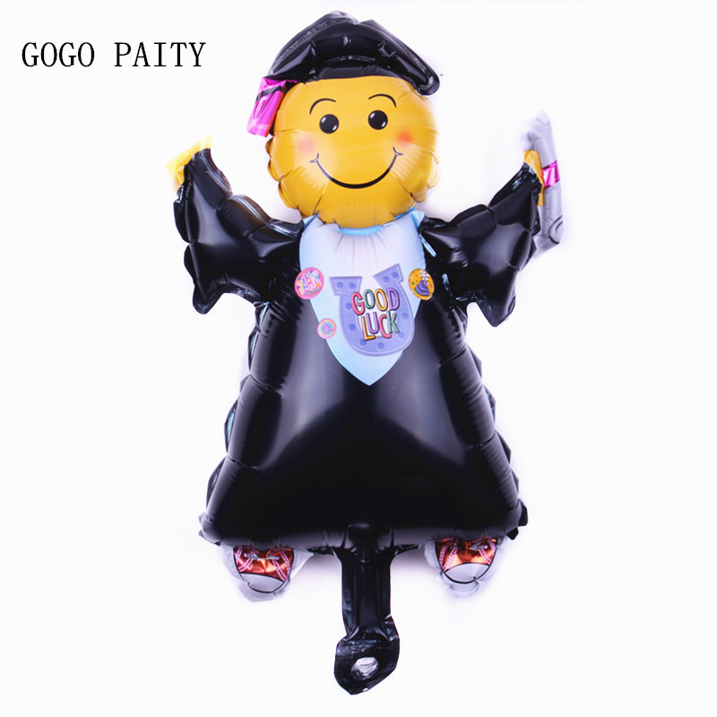 GOGO PAITY  New Aluminum Hydrogen Balloon Graduation Dr. Hydrogen Balloon Helium Balloon Wedding Festival Celebration Decorative