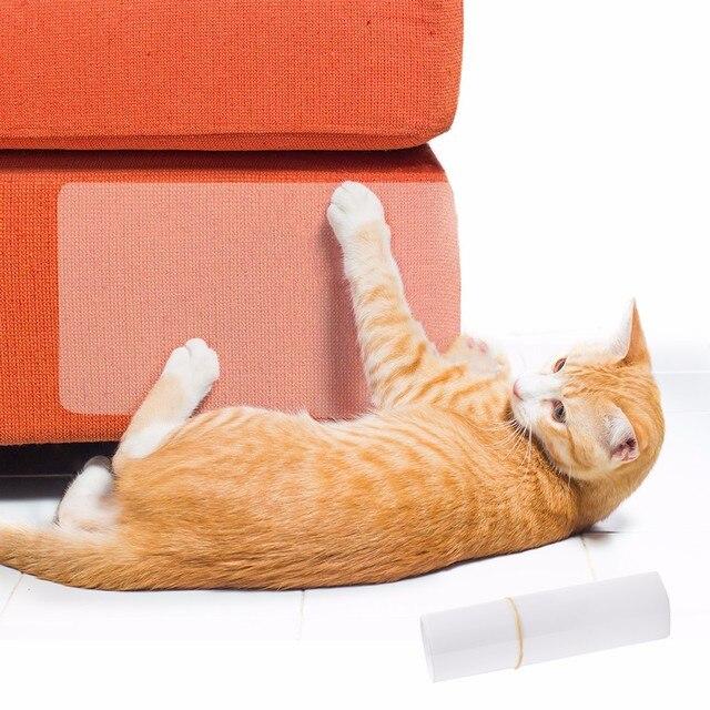 2 unids/set gato grande Scratch Guard Mat gatos rascador de sofá de muebles de Protector, almohadillas para tapicería sillas de cuero