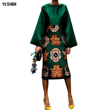 5386e23da Sexy 2 dos piezas conjunto falda Africana Vintage estampado Bodycon verano  blusas traje más tamaño Maxi faldas Midi chándal vestido