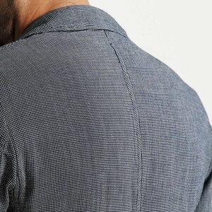 Image 5 - SIMWOOD di 2020 Autunno Casual Giacche Uomini Abiti Plaid di Modo Cappotti Tasca Singolo Pulsante 100% in Puro Cotone Slim Fit XZ6123