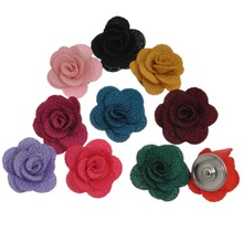 10Pcs Mixed Colors Snap Press Buttons Charm Click Flower Rose-Shaped 28x26mm
