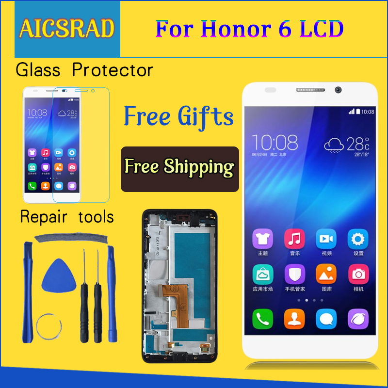 5.0'' 1920x1080 Display For HUAWEI Honor 6 LCD Display Touch Screen Digitizer Assembly H60-L02 H60-L12 H60-L04 LCD