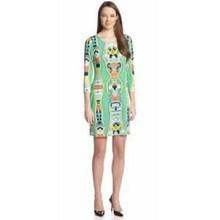 b8a7a166a0e86 Yeni geliş epucci Tasarımcı Lüks Markalar kadın 3/4 Kollu O-Boyun Yeşil Baskı  XXL Streç Jersey Ipek Elbise Ücretsiz Kargo