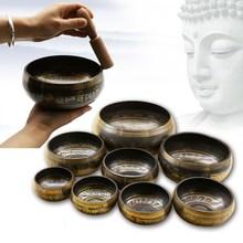 Непальская ручная работа статуя Будды тибетская буддийская чаша музыкальная терапия чистая медная звуковая чаша Йога Поющая чаша Буддийские принадлежности