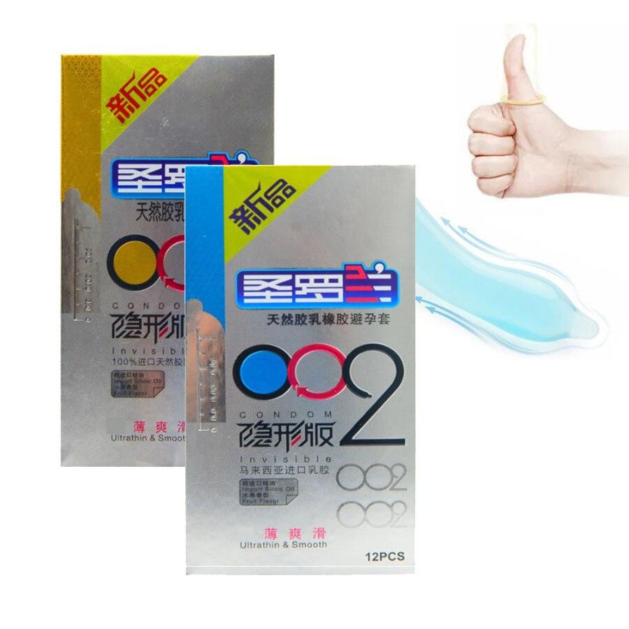 避妊 コンドーム 24ピース/ロット天然ラテックス超薄型0.02ミリメートル&スムーズコンドーム用男性