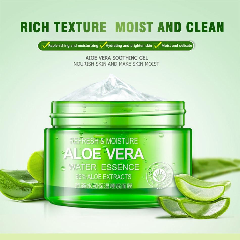 100g Bioaqua Natural Aloe Vera Gel Mask Facial Sleeping Shooting Original Aeproduct