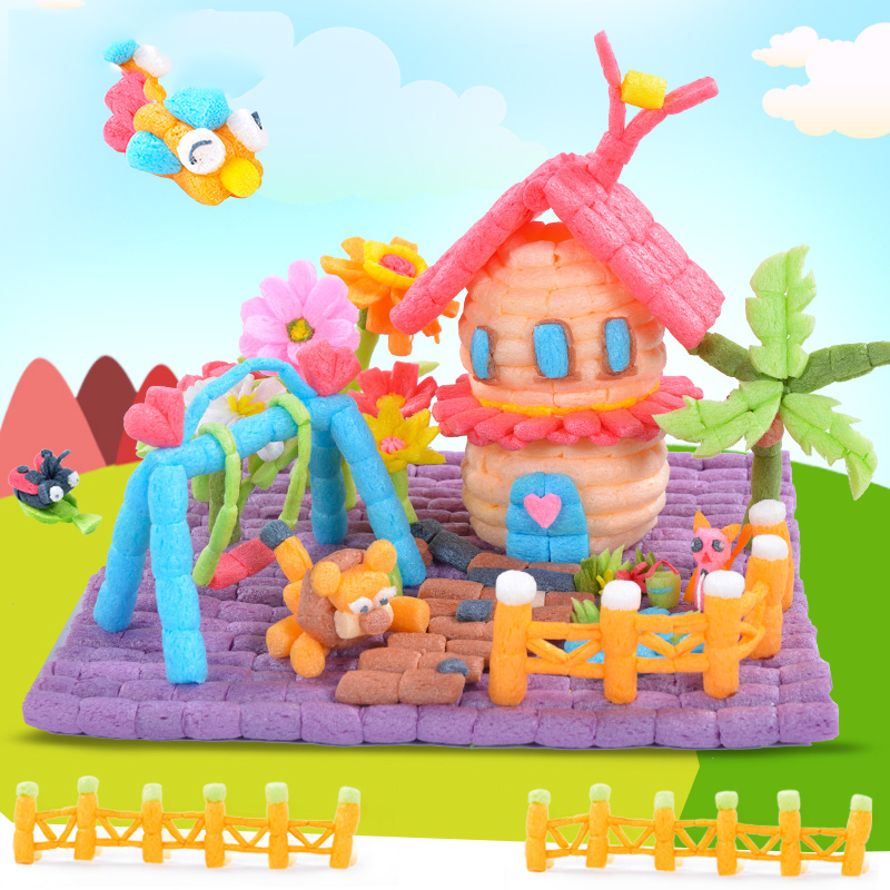 300PCS Creative Starch Miou Magic Corn Plasticine Blocks Baby Kid Colorful DIY Building Decoration For Children Gift