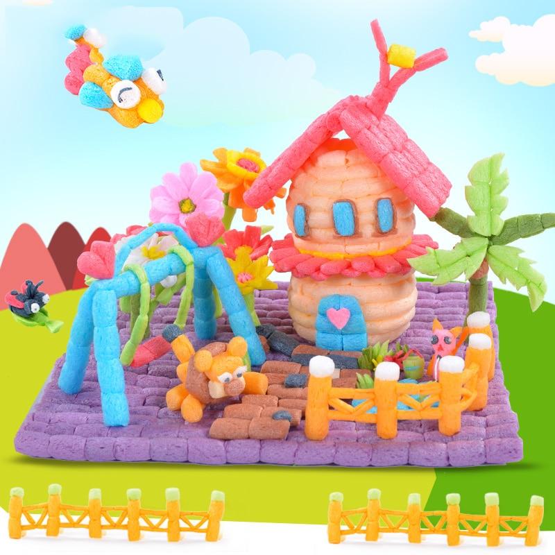300PCS Creative Starch Miou Magic Corn Plasticine Blocks Baby Kid Colorful DIY Building Decoration For Children Gift
