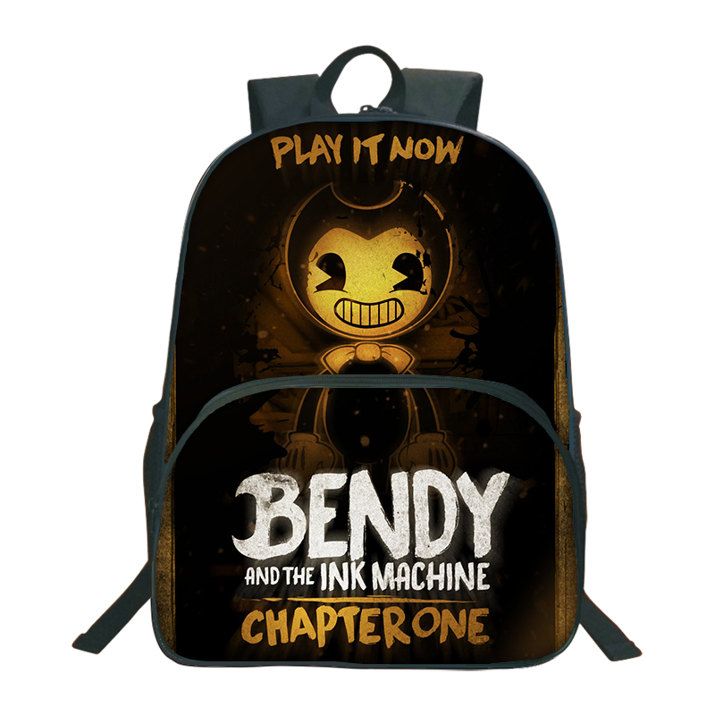 2018 Bendy And The Ink Machine Backpack For Children School Bags Cartoon Game Printing Book Backpack Daily School Backpack 2018 bendy and the ink machine backpack for children school bags cartoon game printing book backpack daily school backpack
