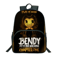 2018 Bendy And The Ink Machine Backpack For Children School Bags Cartoon Game Printing Book Backpack