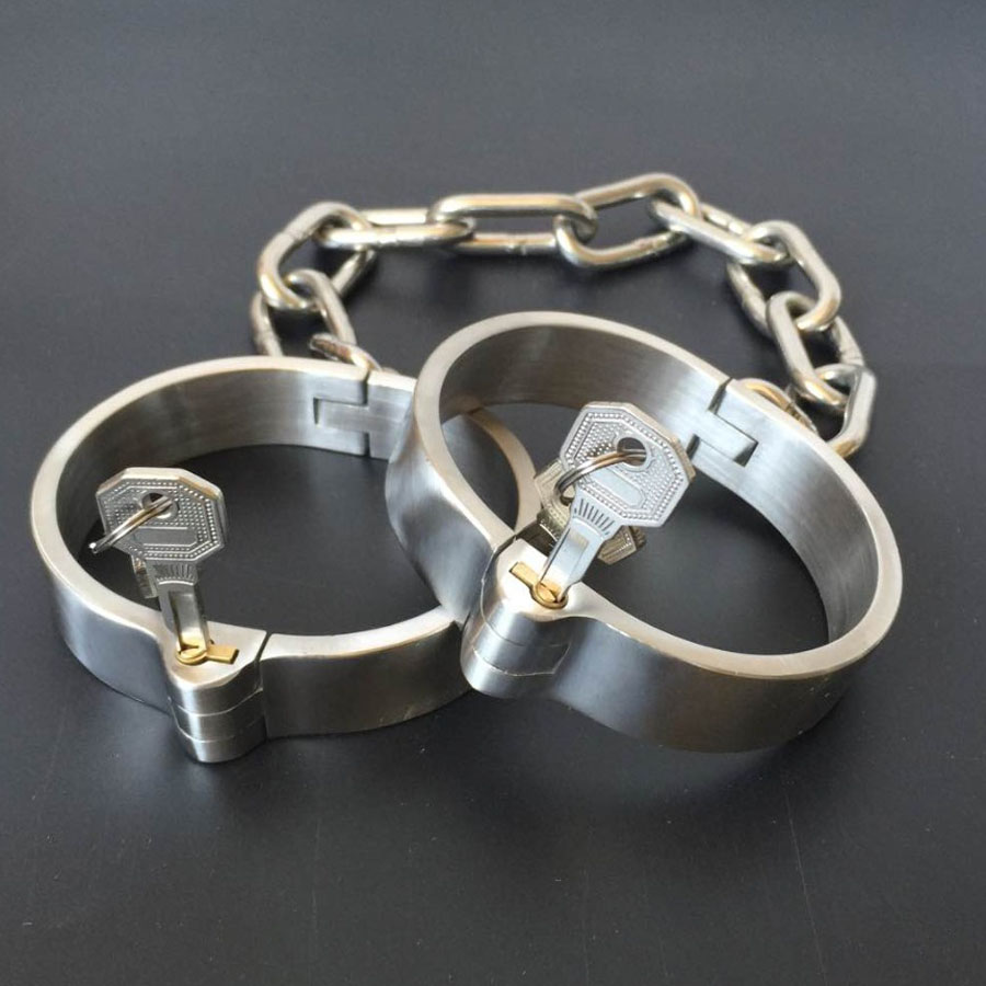 Sex Shop Stainless Steel Leg Irons Cuffs Metal BDSM Bondage Harness Shackles Sex Games Products BDSM Fetish Toys For Couples. fetish sex furniture harness making love sex position pal bdsm bondage product erotic toy swing adult games sex toys for couples