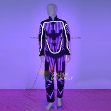 LED Clothing Luminous Costumes Glowing LED Suits 2015 Fashion Show Men LED Pants Dance Accessories Free Shipping