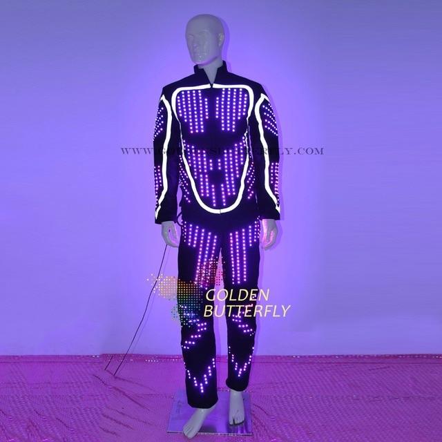 LED vêtements lumineux Costumes LED lumineuse Costumes 2017 défilé de mode hommes LED pantalons danse accessoires livraison gratuite
