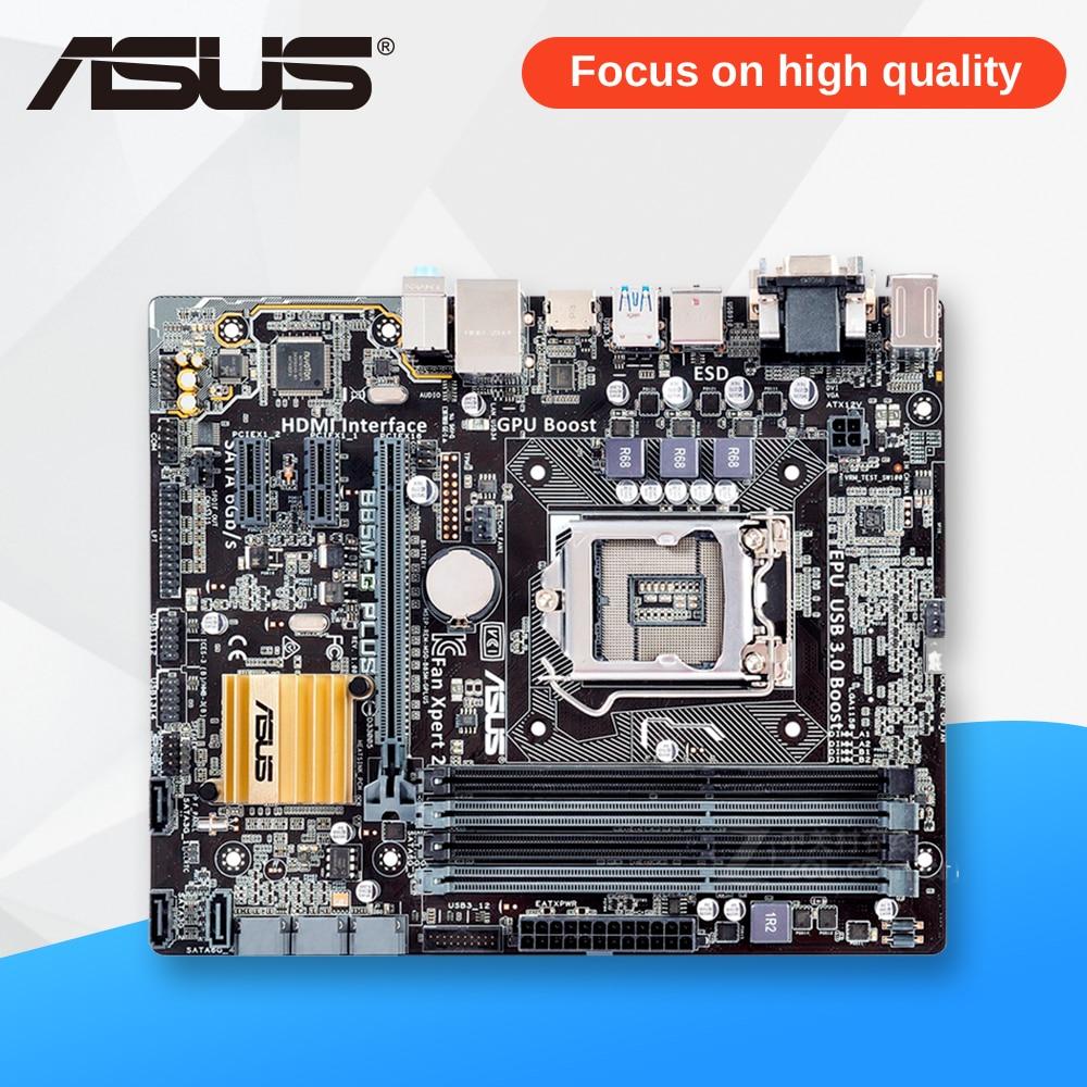 Asus B85M-G PLUS Desktop Motherboard B85 Socket LGA 1150 i7 i5 i3 DDR3 32G SATA3 Micro-ATX used for asus b85m v5 plus desktop motherboard b85 socket lga 1150 i7 i5 i3 ddr3 16g sata3 micro atx