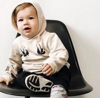 Toddler Baby Boy Hoodie Cotton Cartoon Print Outerwear Casual Hooded Sweatshirt Hoodies & Sweatshirts