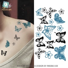 2 Pcs Special Offer Temporary Tattoo Butterfly Tattoo Stickers Waterproof Female Small Fresh Manufacturers Hc1003