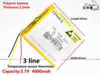 """3 linien 318292 Batterie 7 """"Für Prestigio Gnade 3118 3G PMT3118 Tablet Batterie 3,7 V 4000 mah Polymer li-ion + Tracking"""