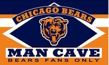 3X5FT Chicago bear man cave flag Digital printing banner