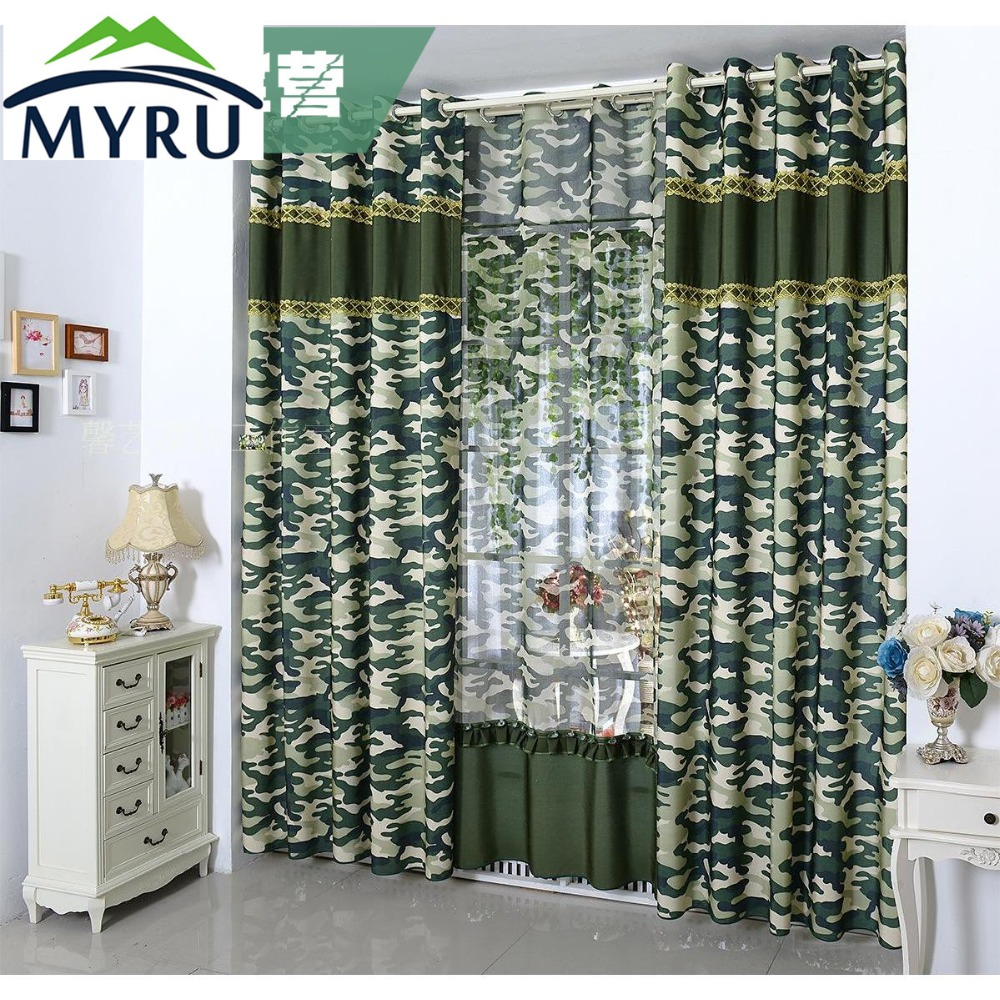 MYRU personnalisé garçons rideau fini rideau de style militaire ...