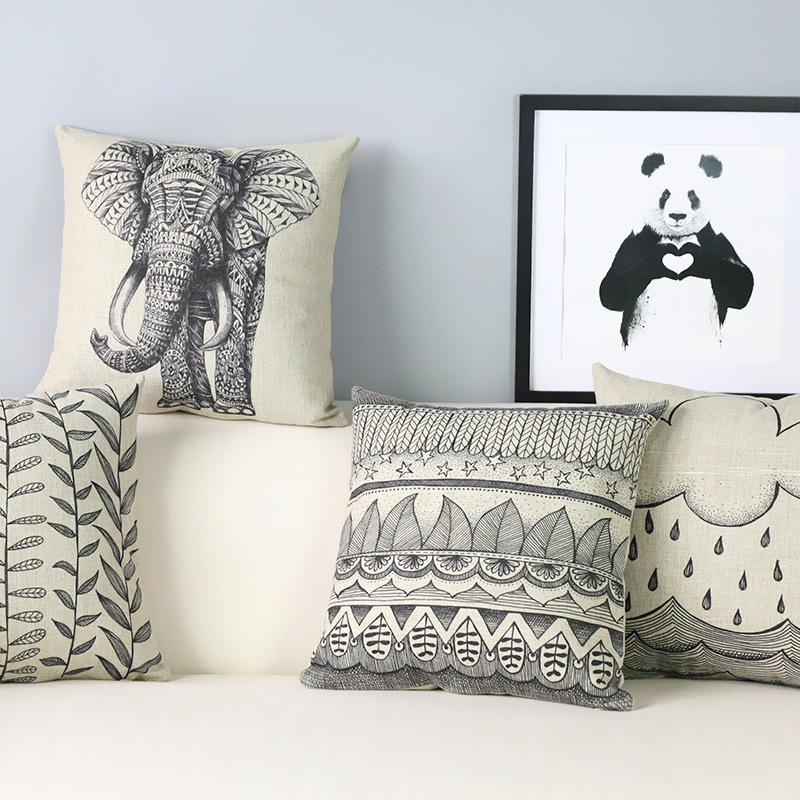 Wholesale NEW modern minimalist art Cushions Home Decor Personalized Throw  Pillows 2017 hand painted elephant. Online Get Cheap M Pillow  Aliexpress com   Alibaba Group