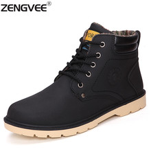 Winter Brand Men Shoes Ankle Martin Boots Suede Leather Warm Snow Boots Outdoor Timbering Casual Boots Botas Hombre