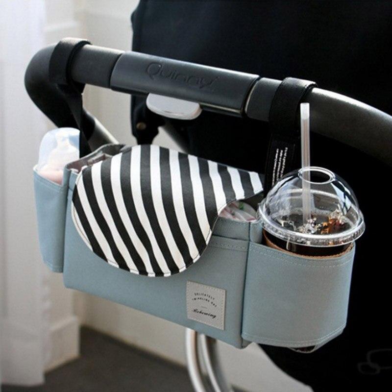 Baby Stroller Accessories Bag Waterproof Cup Bag Stroller Organizer Baby Carriage Pram Buggy Cart Bottle Bag Cartoon Car Bag