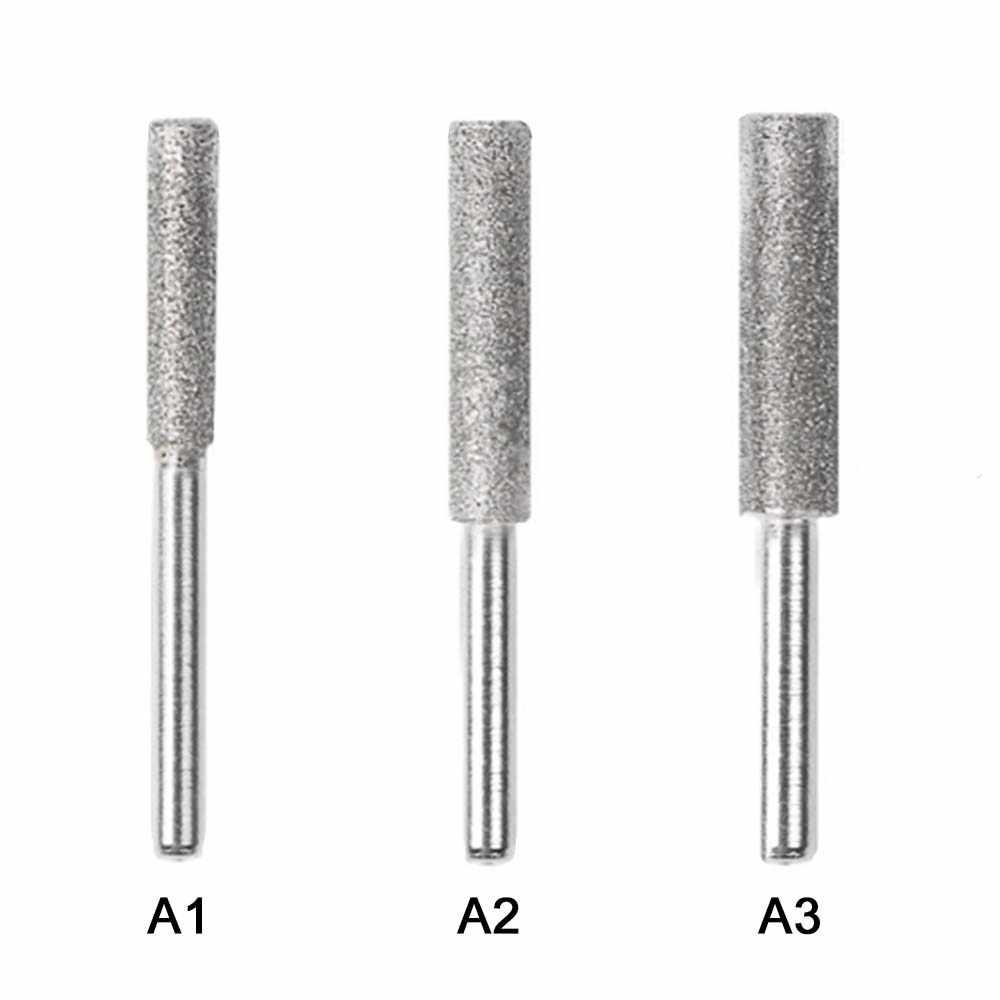 1 قطعة أدوات 4/4. 4/5 مللي متر الماس بالمنشار رأس مطحنة مبراة تلميع لدغ حجر ملف سلسلة المنشار