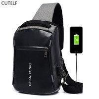 Mochila мужской 2019 crossbody сумка для мужчин bagpack кожа водостойкий sac dos путешествия рюкзак rugzak USB зарядка