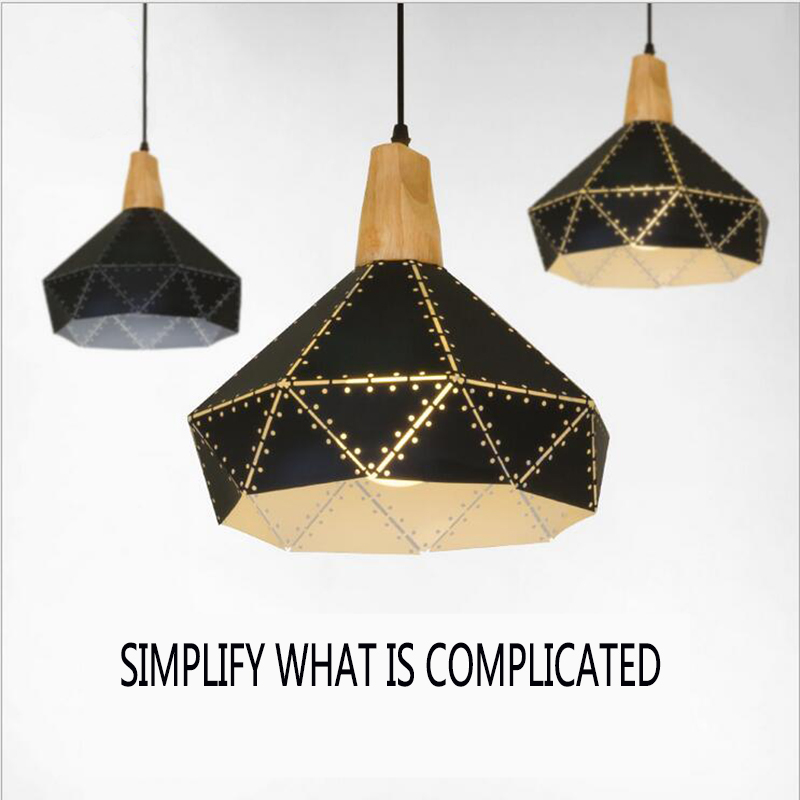 ФОТО Attractive Pendant Lamps Suspension Luminaire Dinning Room Coffee Shop Kitchen Modern Pendant Lights E27 American Home Lighting