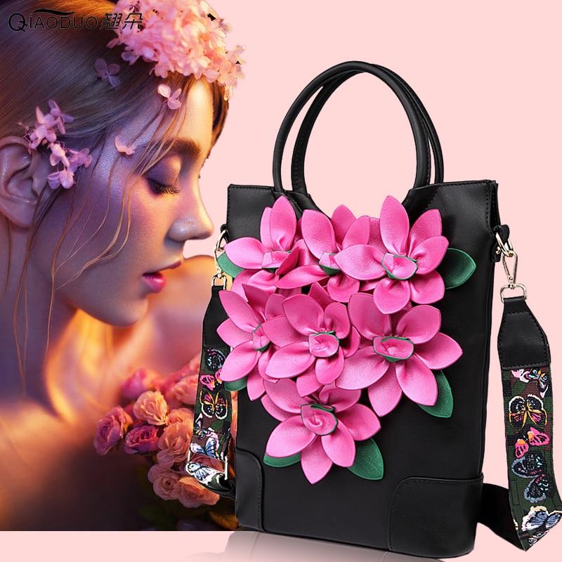 2018 big flower women's  shoulder bag  trend vintage ladies  messenger bag embroidery handbag