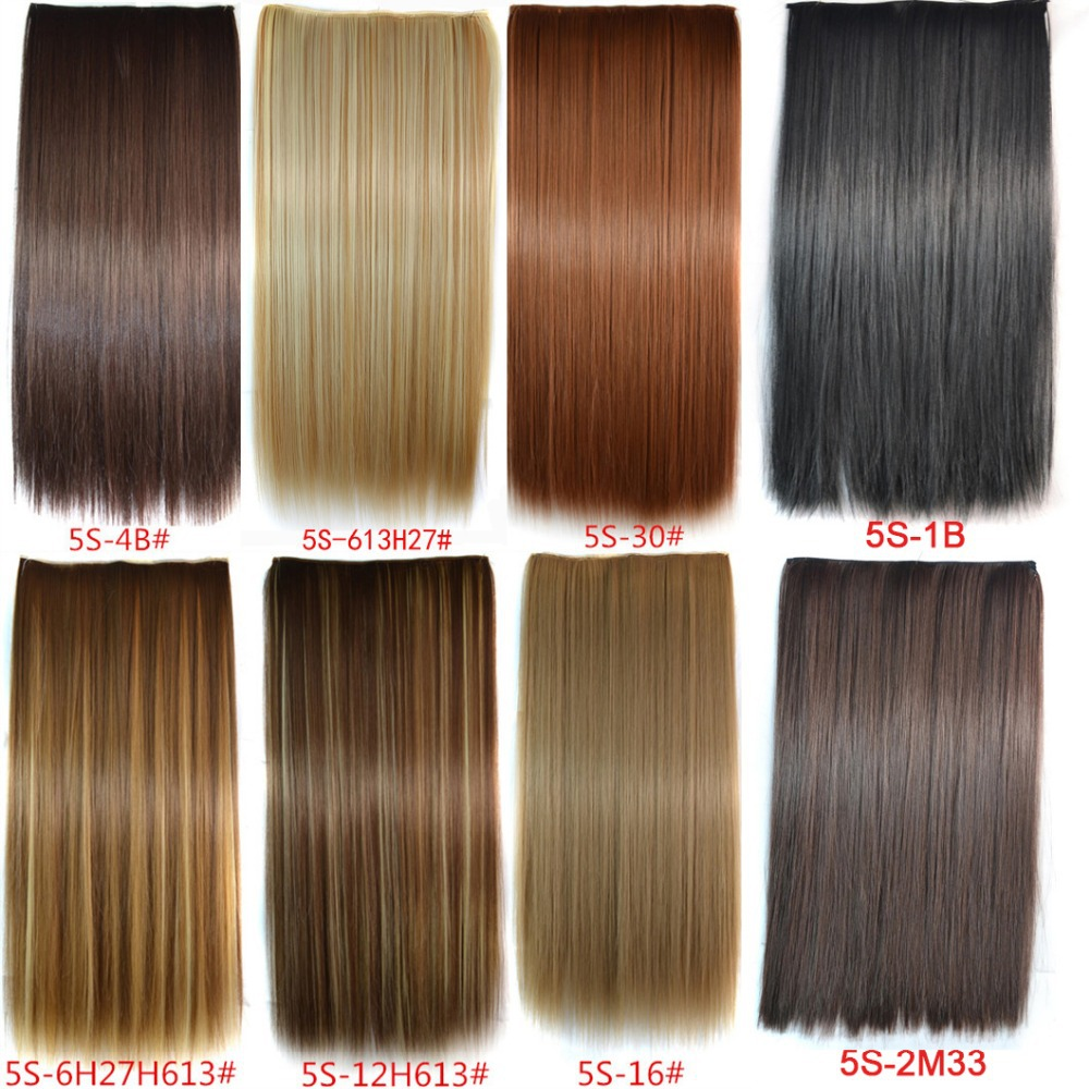 1pc 16 Colors New Long 24inch 60cm 120g Clip In On Hair
