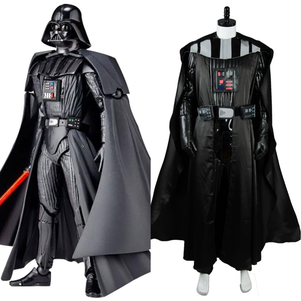 Star Darth Vader Cosplay Costume Black Suit Movie Halloween Carnival For Adult Men Cloak Top Pants Custom Made