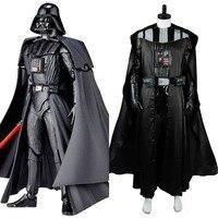 Star Wars Darth Vader Cosplay Costume Black Suit Movie Halloween Carnival For Adult Men Cloak Top Pants Custom Made