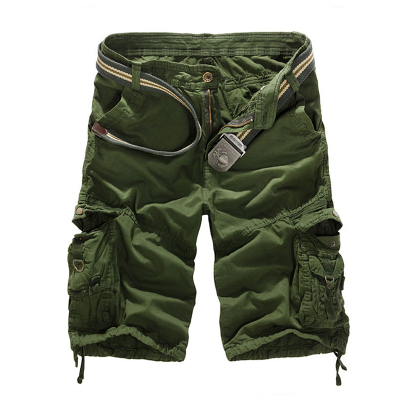 Summer Shorts Mens 2016 Camouflage Fashion Arm Military Casual Male Capris Multi Pocket Brand Shorts Homme