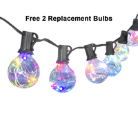 LED String Lights 25Ft 25Clear G40 Globe Bulbs Color Changing Flashing Waterproof Outdoor Decoration Garland Halloween Christmas