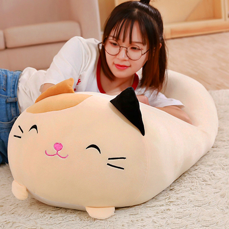 OLOEY 1Pc Doll Down Cat Pillow Plush Cushion Brinquedos With PP Cotton Stuffed Animal Plush Toys Dolls Kids Home Decoration