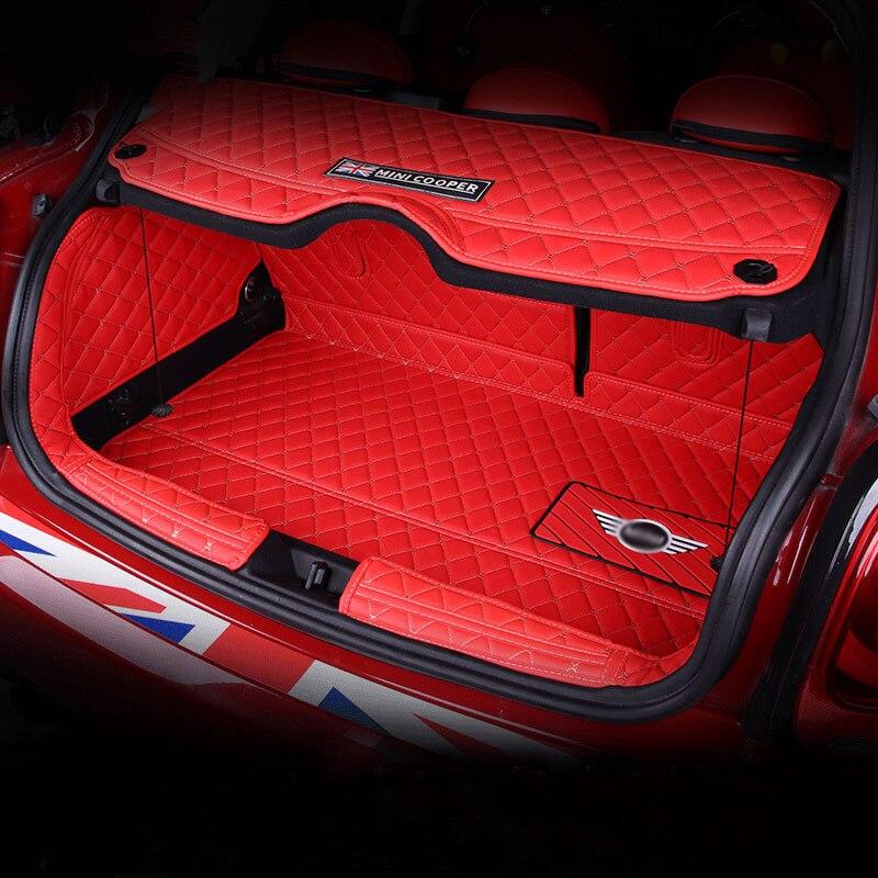 Tapis de coffre de voiture tapis en cuir pour BMW MINI COOPER S ONE F54 F55 F56 F57 F60 F60 CLUBMAN accessoires de décoration de style intérieur - 4