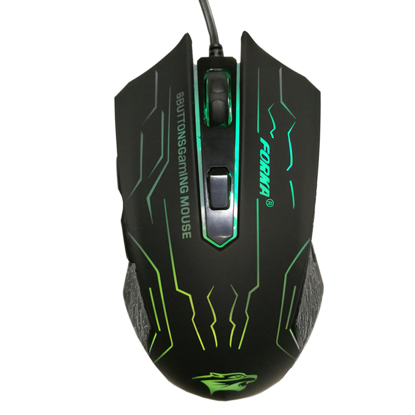 FORKA Silent Click USB Wired Gaming Mouse 6 Buttons 3200DPI Mute Optical Computer Mouse Gamer Mice