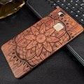 Lts de plástico teléfono case para huawei p9 lite case luxuly talla de madera pc + madera contraportada shell para huawei p9 p9 lite p9 plus fundas
