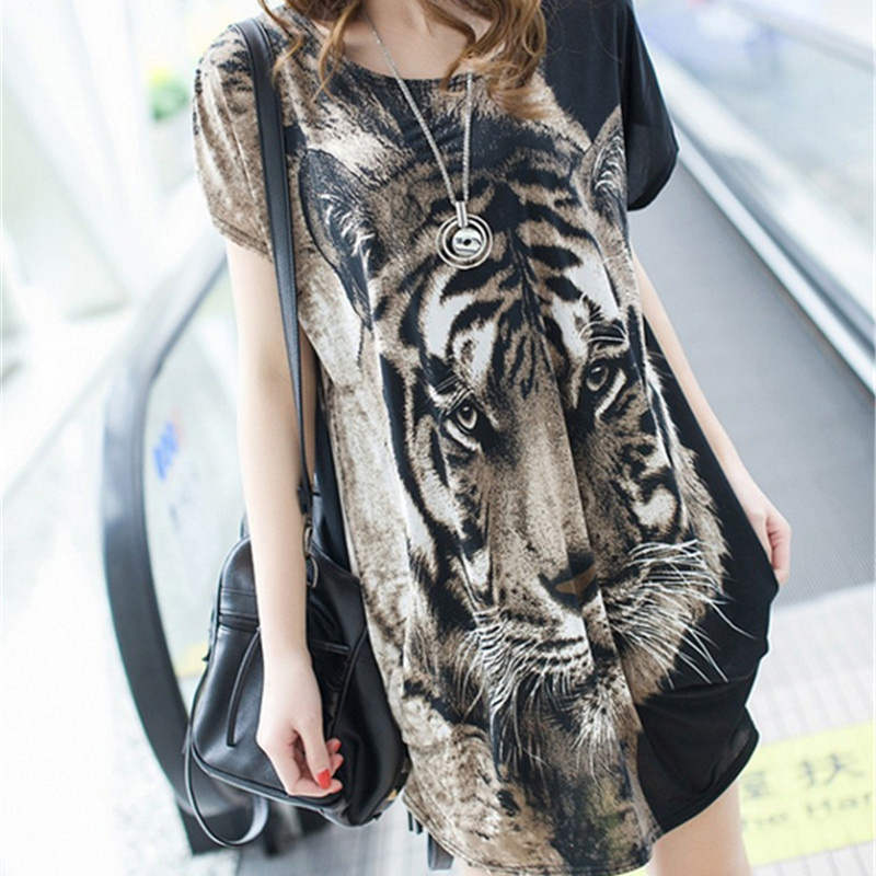 2019 korean version New clothes <font><b>sexy</b></font> tiger head hip plus size <font><b>women</b></font> <font><b>shirts</b></font> <font><b>gothic</b></font> graphic t <font><b>shirts</b></font> free shipping image