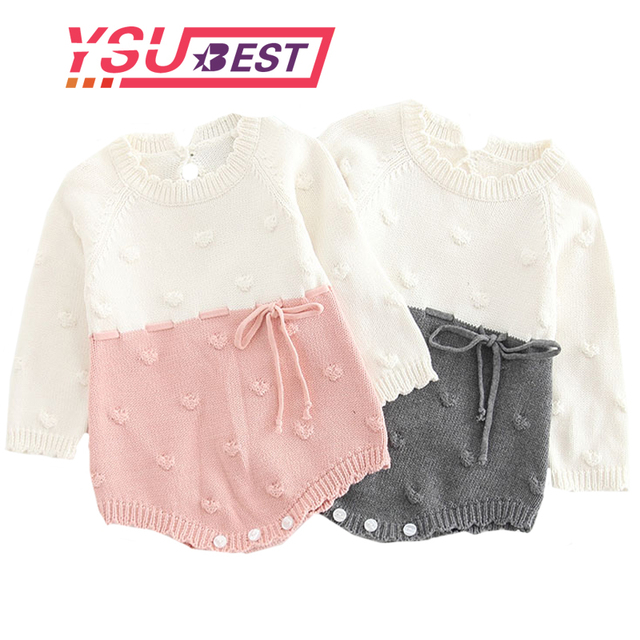 6a798b86006f Baby Knitted Clothes Kids Newborn Baby Girl Bodysuits Princess ...